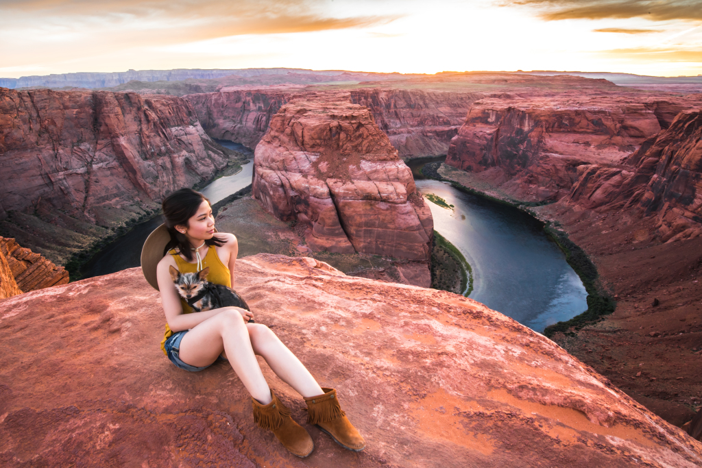Horseshoe Bend with Girlfriend & Splinter
