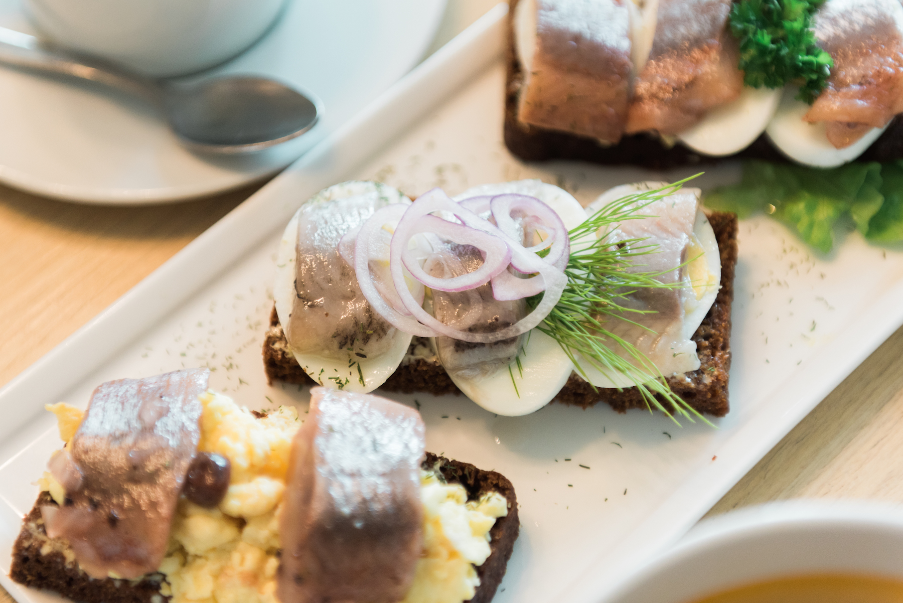 Rye Bread with Egg and Herring