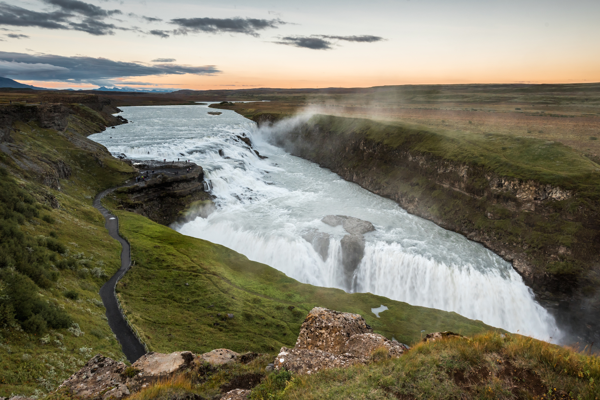 Viewing Deck of Gullfoss Waterfall