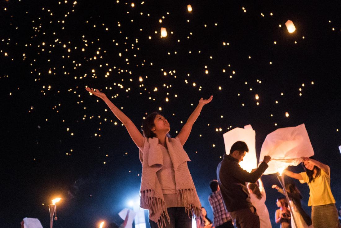 Lantern Covered Skies