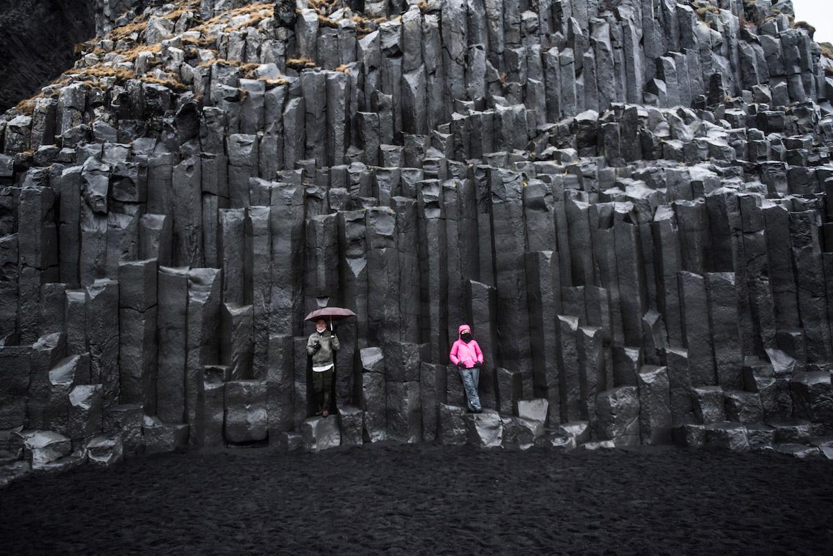 Basalt Rock Formations at Reynisfjara Beach